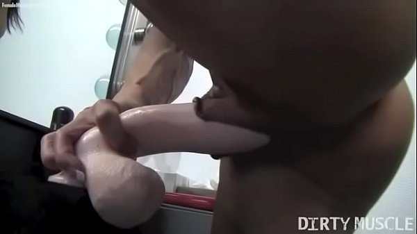 Naked Female Bodybuilder Fucks a Dildo – Angela Salvagno